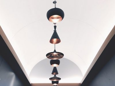 La lampe de feuille de cuivre