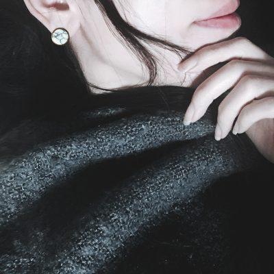 Boucles d'oreilles en pierre